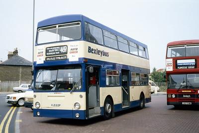 London Buses 91 Bexleyheath Bus Station London Sep 88