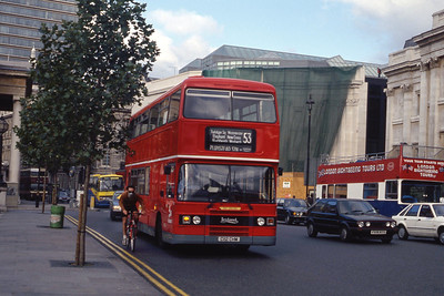 London Buses L112 Trafalgar Square London Sep 90