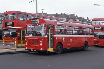 London Buses BL57 Golders Green Bus Station London Sep 88