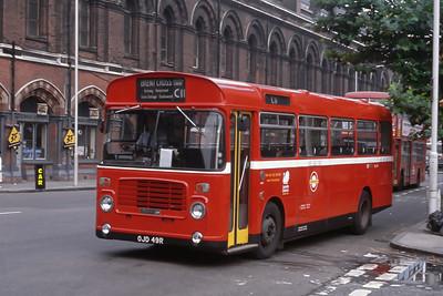 London Buses BL49 Pancras Road London Sep 88