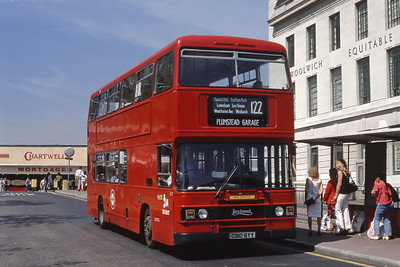 London Buses L12 General Gordon Square Woolwich May 89