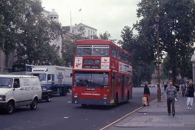 London Buses DM2539 Whitehall London Sep 90