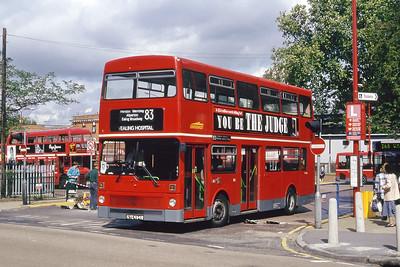 London Buses M494 Golders Green Bus Stn London Sep 94