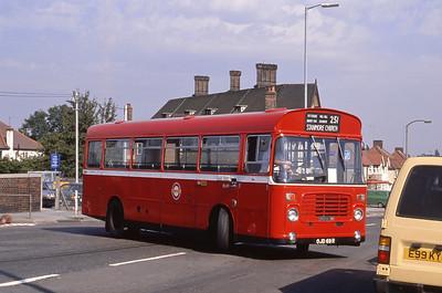 London Buses BL69 Arnos Grove Station London 1 Sep 88