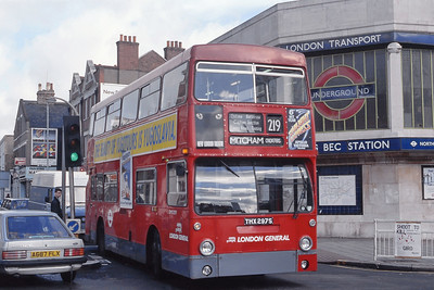 London Buses DMS2297 Tooting Bec Road London May 89