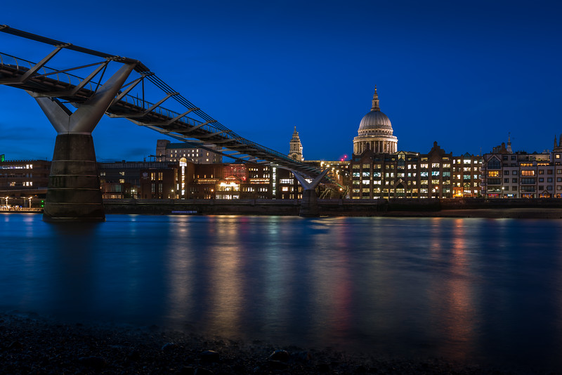 St Paul's Cathedral and The Millennium Bridge