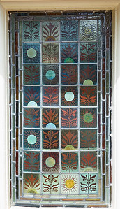 Colored Glass  Window - Ladies Rest Room
