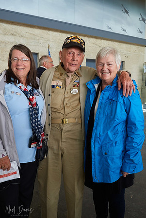 Honorable Veteran - age 97 years, with Pam and Maria
