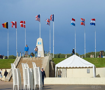 """THE 1ST ENGINEER SPECIAL BRIGADE MONUMENT This monument was erected with the contributions of the men from the Brigade themselves. The monument reflects Caffey's insistence that the Brigade must leave a permanent reminder of their work before departing Utah Beach.  The monument was initially inaugurated on November 11, 1944 by Colonel Caffey, the brigade's commanding officer, then inaugurated """"officially"""" together with the French authorities on June 6, 1945."""