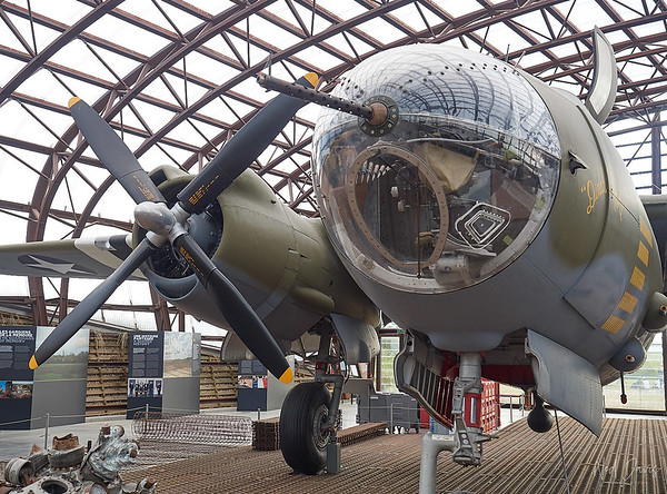 """Martin B-26G Marauder 44-68219 Bomber """"Widow maker""""  One of three existing today of 5,266 built until 1945. Represents 41-131576 """"Dinah Might"""" AN-Z of the 386th Bomb Squadron United States Army Air Force, 85 missions with success!"""