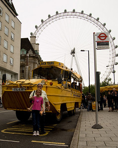 Mum, Sam, Duck Bus & the London Eye