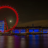 London Eye With full Moon