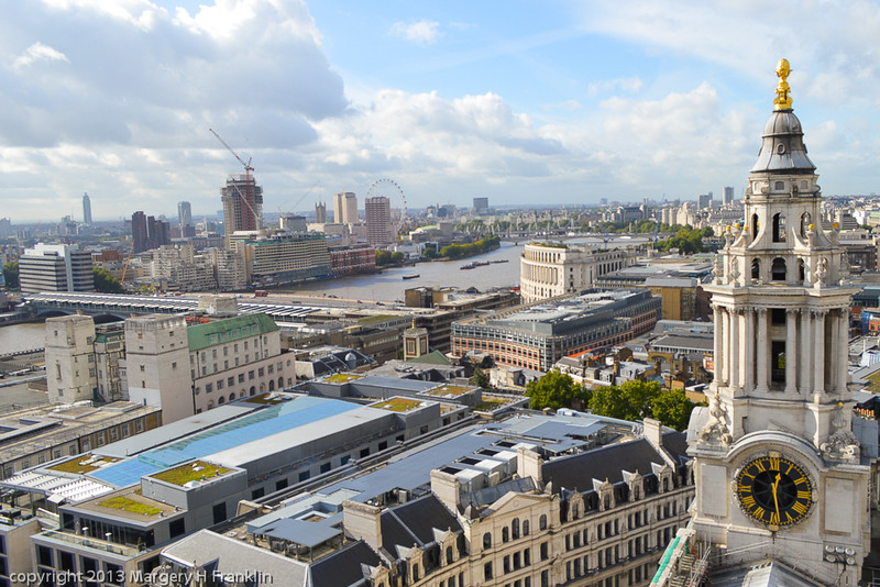 View from the Stone Gallery of St. Paul's Cathedral, London