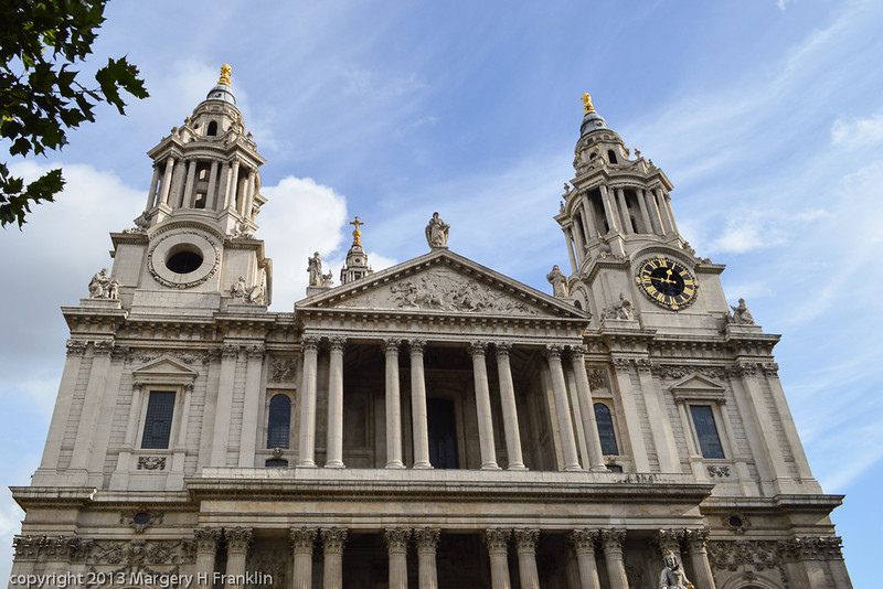 Front of St Paul's Cathedral, London