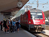 Train MV 415, Ljubljana, Slovenia, Sat 23 May 2009 4 - 0935.   Slovenian 541.004 finally arrives with the 2140 Zurich - Belgrade, due at Ljubljana at 0810.