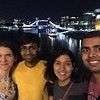 With Sid and Jody on the London bridge overlooking the Tower Bridge in the background