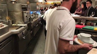 This is a timelapse movie of the open bar/kitchen concept for a fantastic restaurant called BarraFina. Just a couple blocks away from the office. I took Lisa there when she visited and instantly became our favorite place to eat. Awesome Spanish tapas and really unusual seafoods and other dishes. And it became my reward for the end of the week or after a big deadline. The next few pics are from BarraFina.