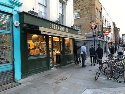 And on the Lower Marsh is my favorite grocery store, Greensmiths. They have their own kitchen and make their own salads, English meat pies, and really tasty take away food.