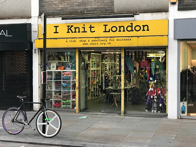 Funny little knitting store on this street a block away called the Lower Marsh.