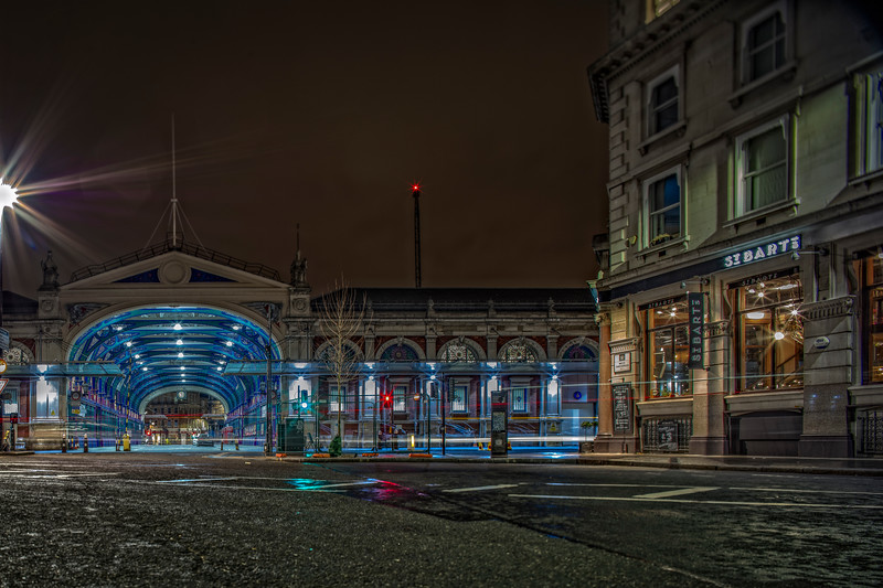 Smithfield Market in London at Night
