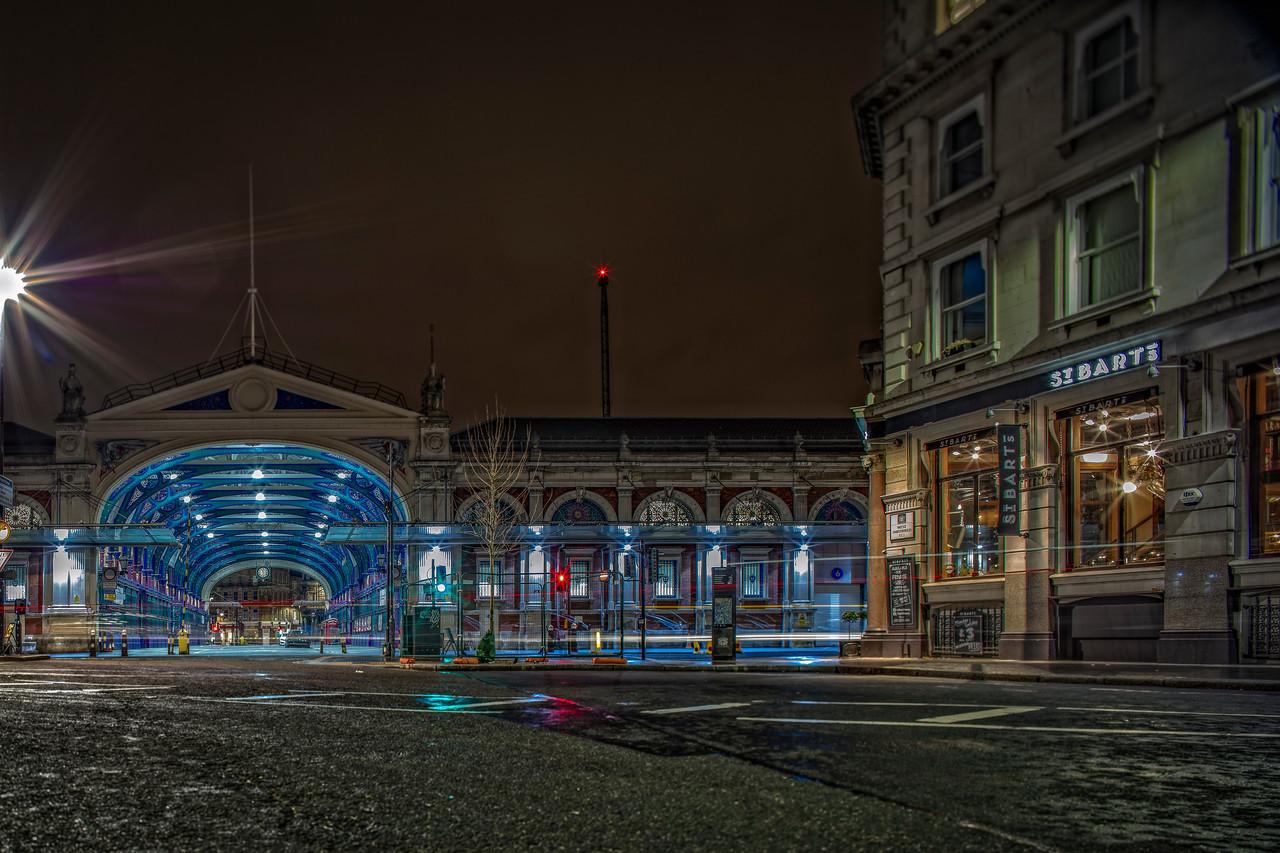 Smithfield Market in London at Night