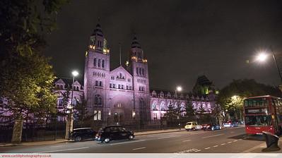 Natural History Museum at night