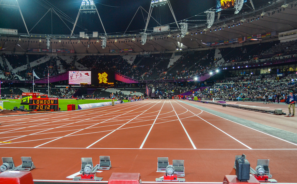 100m Start Line, London 2012 Olympic Stadium