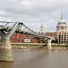 St. Paul's Cathedral and the Millennium Bridge.