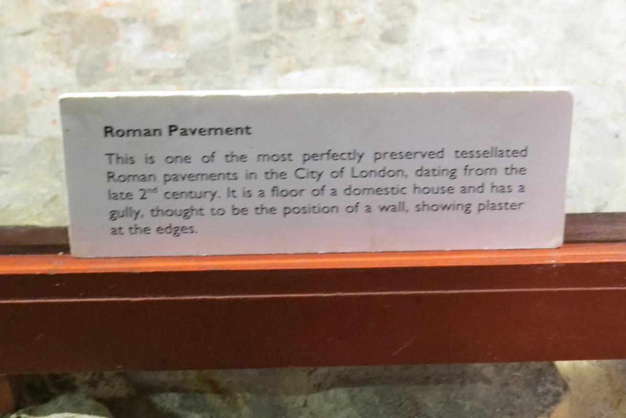 Roman Pavement info card