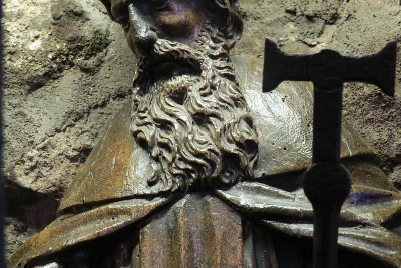 Figure near the Saxon arch