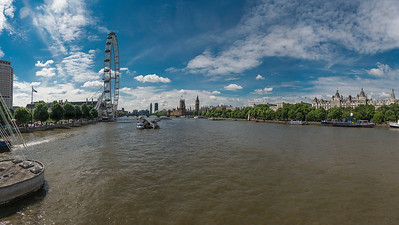 Thames River and London Eye
