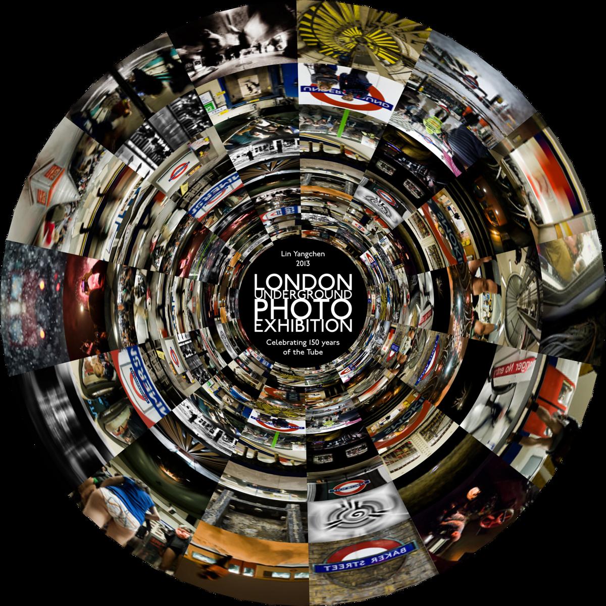 London Underground photo exhibition tube150