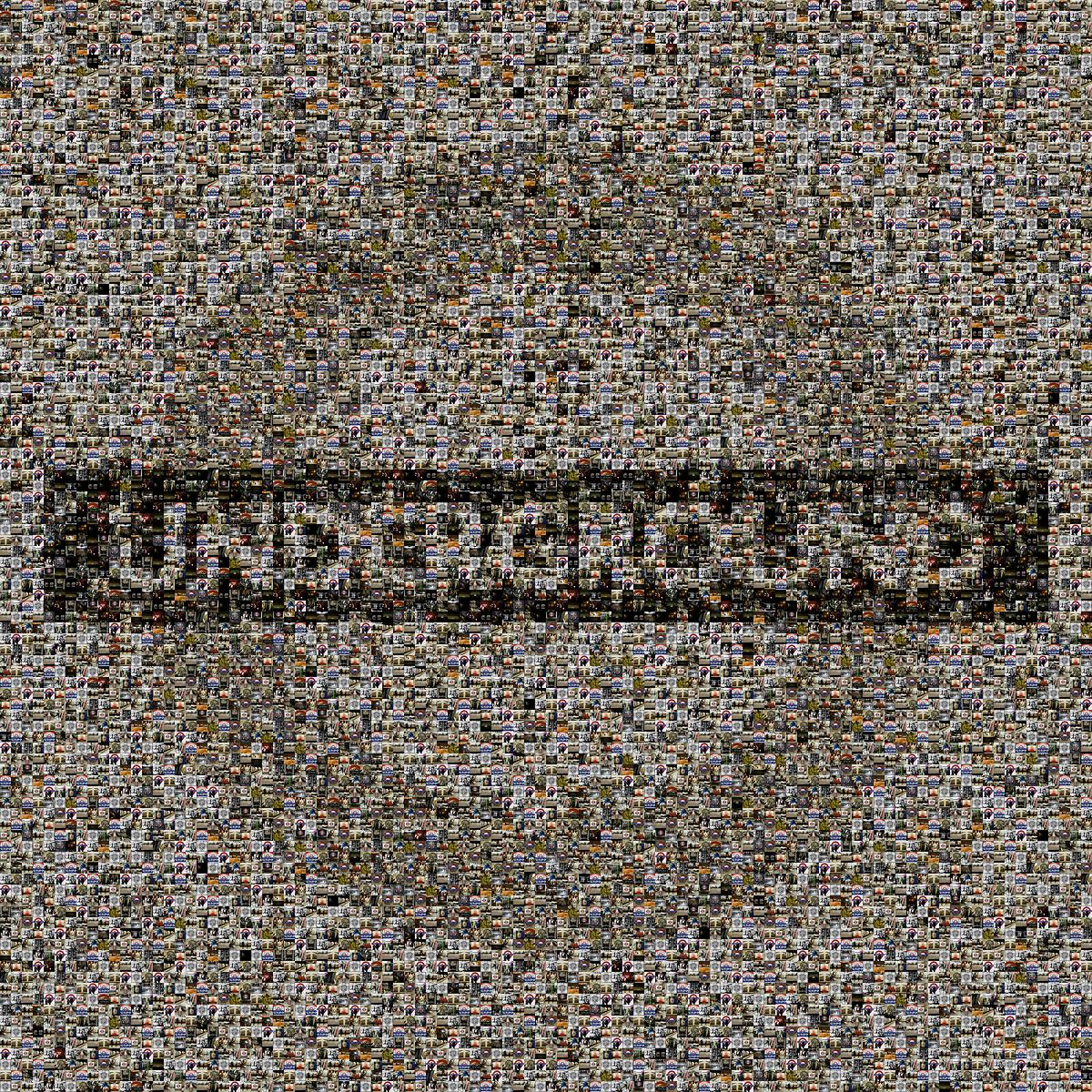 London Underground logo mosaic