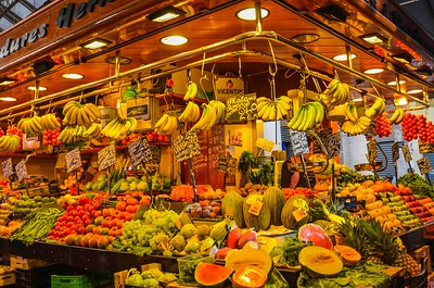 Market off the Ramblas, Barcelona, Spain