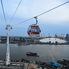 The Emirates Air Line is cable car over the Thames in London connecting the Greenw