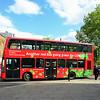London Bus turning on Waterloo Road.