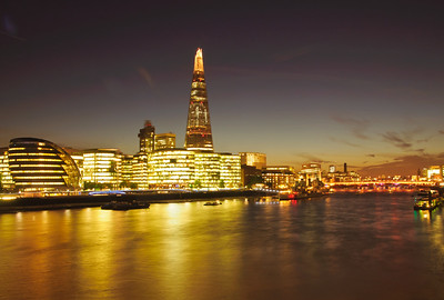 London - the River Thames at Night