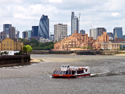 The City of London from Canary Wharf