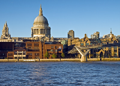 London - St Paul's and the Millenium Bridge