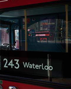 Empty buses at Waterloo Station