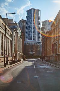 Empty Stamford Street facing BFI Imax