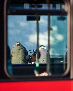 Meals shot through a bus