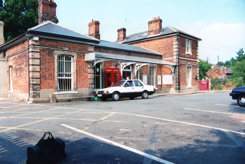The Station buildings at Ongar although all locked up where in a very good condition when we where there