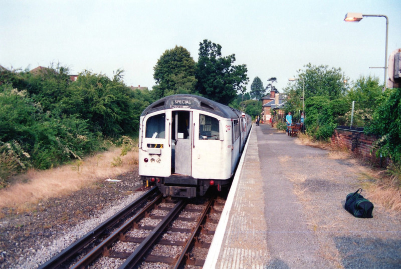 top of the train at ongar looking back towards the station buildings