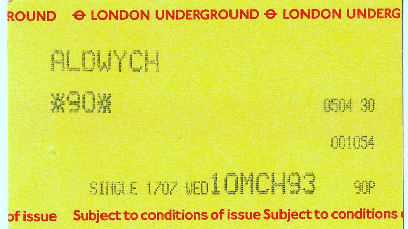 """Aldwych <br /> <br /> Liz Ghost Station # 23 <br /> <br /> GSM Ghost Station # 1 <br /> <br /> <br /> <br /> London Underground Closed station closed 1994 <br /> <br /> Piccadily Line branch off from Holburn <br /> <br /> For full history of the Aldwych check this out:<br /> <br />  <a href=""""http://en.wikipedia.org/wiki/Aldwych_tube_station"""">http://en.wikipedia.org/wiki/Aldwych_tube_station</a><br /> <br /> The above pic:<br /> <br /> Ticket for the Aldwych Branch on the Piccadilly Line"""
