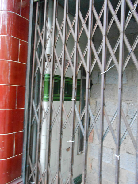 Pic by Liz <br /> <br /> The entrance has been bricked up but the original tiles still exist inside the entrance