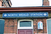 North Weald station building sign <br /> <br /> when i came here the station was all locked up and the area was like a Ghost Town