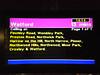 The destination screen at Baker Street tube <br /> <br /> station Metropolitan Line platform showing <br /> <br /> the destination as Watford