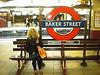 Liz at Baker Street <br /> <br /> Metropolitan Line Platforms waiting for the train to Watford
