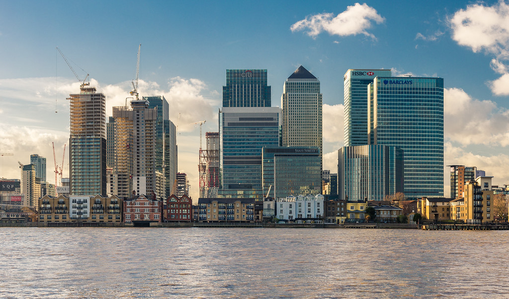 Skyscrapers of Canary Wharf